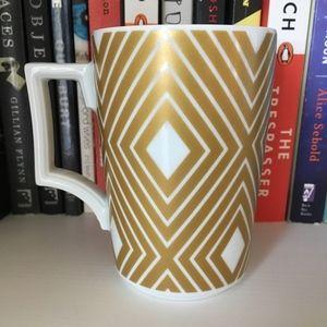 Starbucks Rosanna White and Gold Diamond Mug